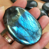 Natural Crystal Moonstone Polished Quartz Labradorite Ore Specimen Stone Healing