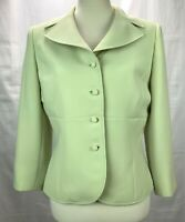 Tahari Arthur S Levine Womens Size 8 Light Green Career Jacket Blazer