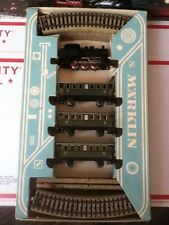 MARKLIN HO VINTAGE TRAIN SET 3100 - TANK STEAM+CARS+M TRACKS =18PCS. - LOT-C4