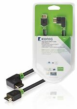 Konig High Speed HDMI Cable with Ethernet HDMI to HDMI Connector left-angled 3m