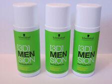 3x Schwarzkopf 3D Men Sion Hair/Scalp/Roots Hair & Body Shampoo - 3x 50ml