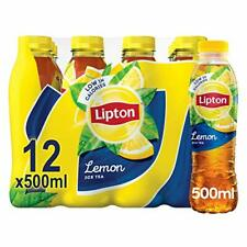 Lipton Ice Tea Lemon Soft Drink 500ml, (Pack of 12)