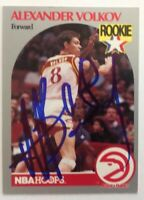Alexander Volkov Hand Signed 1990 Hoops Card Atlanta Hawks RACC
