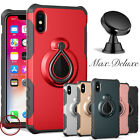 For iPhone XS MAX XR X Ring Holder Protective Shockproof Case Cover + Car Mount