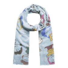 CODELLO Damen Schal Peanuts Snoopy Motiv 82063808 Blau und Pink (hell Blau)