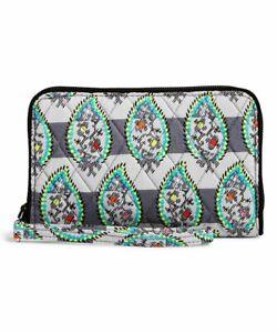 NWT Vera Bradley Grab and go RFID Wallet Paisley Stripes Retail $48