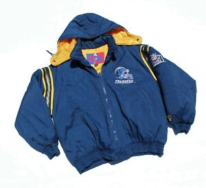Vintage San Diego Chargers Pro Player Jacket Parka Puffy NFL Experience XXL
