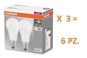 SET DA 6 PZ. LAMPADINA LED OSRAM  E27 14W  = 100W LUCE CALDA 2700K GOCCIA