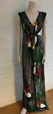 PHILOSOPHY di ALBERTA FERRETTI EMBELLISHED PRINTED MAXI DRESS SZ I 42 GB 10 US 6