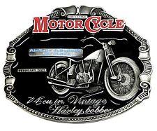Harley Davidson Belt Buckle Classic Motorcycle Biker Vintage Bobber Licensed