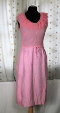 Vintage 80's Pretty Pink Homemade Party Occassion Bridesmaid Wedding Dress UK 8