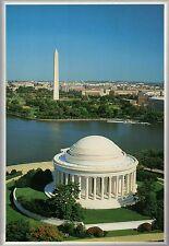 Aerial View Jefferson Memorial & Washington Monument, Tidal Basin, DC - Postcard