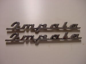 1960 Chevrolet Impala rear quarter scripts