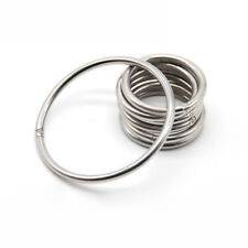 3mm 8mm 304 Stainless Steel Hoop Welded Ring Seamless Solid Round Circle US