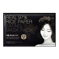 [Lamy] Real 97% Rice Paper Eating Mask Pack Black Rice Sheet 20g