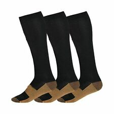 Copper Compression Support Socks 20-30 mmHg Graduated Men's Women's (3 Pairs)
