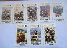 SET OF 8 1980 POLAND ANNIVERSARY OF HORSE RIDING IN SIERCKOWIE STAMPS
