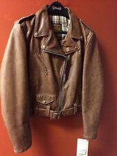 Schott NYC Women's Leather Jacket Brown 525W SIZE MEDIUM & XL