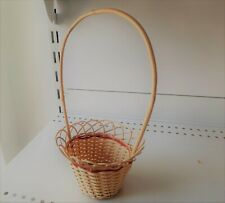 Natural Weaving basket type Flower Vase With Handle, Handmade Vase Décor Garden