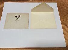 Hawaii Royal Kingdom Monarchy Hand Colored Cross Kahili Emblem Letterhead X Rare