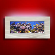 NEW! ORIGINAL AUSSIE AQUARIUM - SKYLINE BRUSHED ALUMINUM WALL MOUNTED FISH TANK