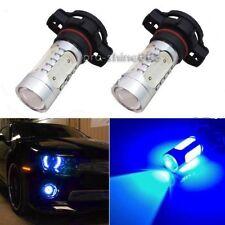 2x H16 5202 CREE Nice Blue COB LED Projector Bulbs For Fog Lamp Daytime Lights