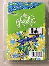 GLADE WAX MELTS 11 CUBES OF HELLO SPRING GREEN TEA & BIRCH FOR OIL BURNERS