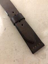 20mm handmade DARK CHOCOLATE brown Leather Strap bracelet vintage ww style