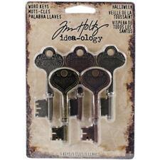 Tim Holtz Idea-ology Word Keys - HALLOWEEN - scrapbooking embellishments TH93600