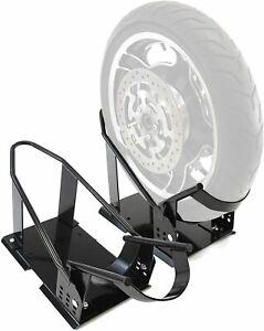 2 x Universal Motorcycle Bike Removable Wheel Tire Chock Cradle Adjustable Truck