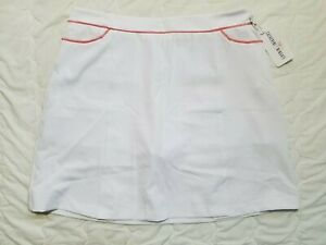 1 NWT CATHERINE WINGATE WOMEN'S SKORT, SIZE: 10, COLOR: WHITE/PINK (J186)