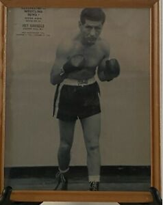 Vintage Boxing Wrestling News Boxing Album Joey Giardello Framed Picture