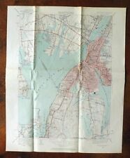 Fall River Massachusetts Vintage Usgs Topo Map 1949 Somerset Topographic
