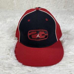 Nike Air Jordan Jumpman 23 Men's 7 1/2 Black Red Logo Fitted Wool Hat Cap Bulls