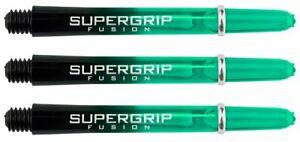 Harrows Supergrip Medium Fusion 45mm Dart Nylon Shafts Jade Pack of 3 Stems