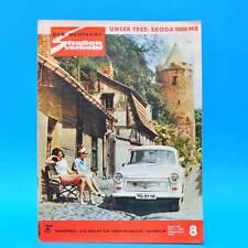 Der Deutsche Straßenverkehr 8/1965 DDR Skoda 1000 MB MZ Zschopau Zweitagefahrt G
