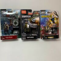 Mega Construx Blk Series God of War Kratos & Borderlands3 Claptrap w/Raphael Lot
