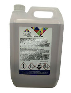 Paint Stripper Gel Removes Paint &Varnish Restricted To Professional Use Only-5L