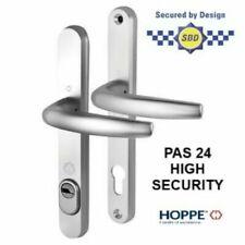 Hoppe Tokyo Pas24 High Security Handle 92PZ - 240 /215mm Sprung Silver 70mm Door