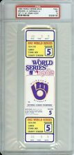 1982 World Series Game 5 Full Ticket Brewers 1st WS Yount HR Scarce  PSA 5