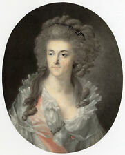 Antique Master Print-PORTRAIT-SOPHIA OF PRUSSIA-NASSAU-Descourtis-Hentzy-1791