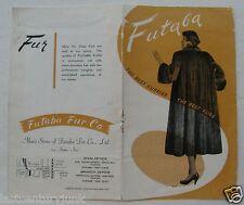 Brochure For The Futaba Fur Co. Tokyo 1940's