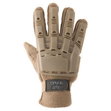 New Valken V-Tac Tactical Airsoft Full Finger Plastic Padded Gloves Large Tan