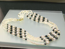 Multi strands Schoeffel Genuine Japan freshwater Biwa & cultured pearl necklace