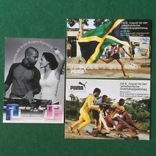 3 Cartoline PUMA SPORT JAMAICA FLOWING PARFUM lotto card