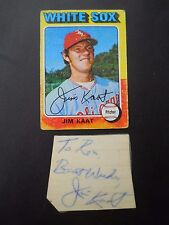 Jim Kaat, Autographed on a piece of an Index card, with Baseball card, Pitcher