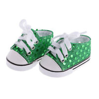 "DK BLUE Faux Sequin Tennis Sneakers Doll Shoes For 18/"" American Girl Debs"