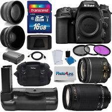 Nikon D7500 DSLR Camera 4 Lens 18-55mm +70-300mm +16GB Battery Grip Value Bundle