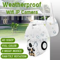 1080P HD Wifi IP IR Cámara de Vigilancia Sin Hilos Visión Nocturna Seguridad *