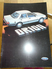 Ford Orion Export range brochure Feb 1985 English text